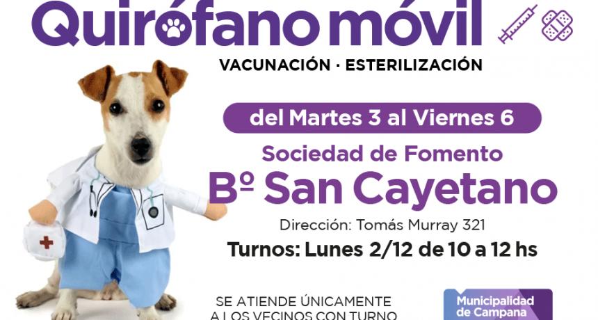 El quirófano móvil estará la semana próxima en San Cayetano