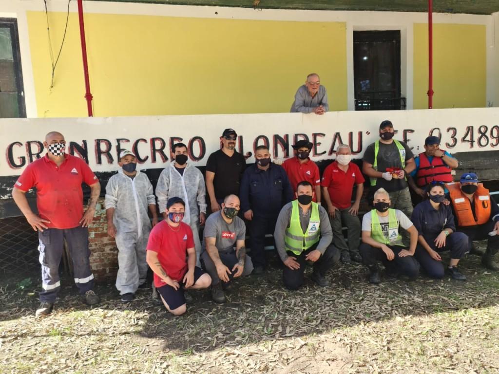 Defensa Civil realizó un voluntariado para acondicionar el histórico Recreo Blondeau