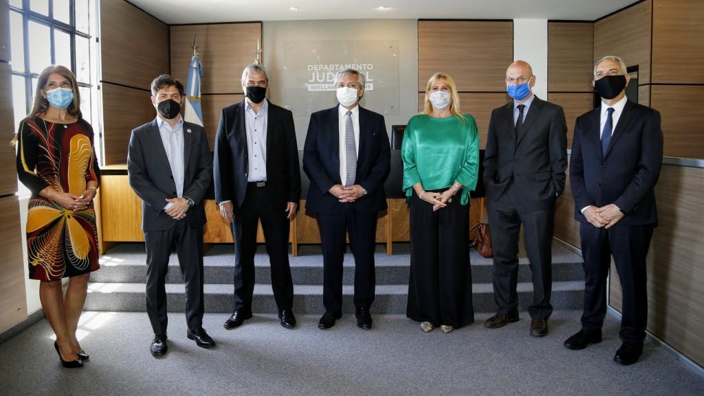 Kicillof inauguró junto al Presidente las obras del Departamento Judicial de Avellaneda-Lanús