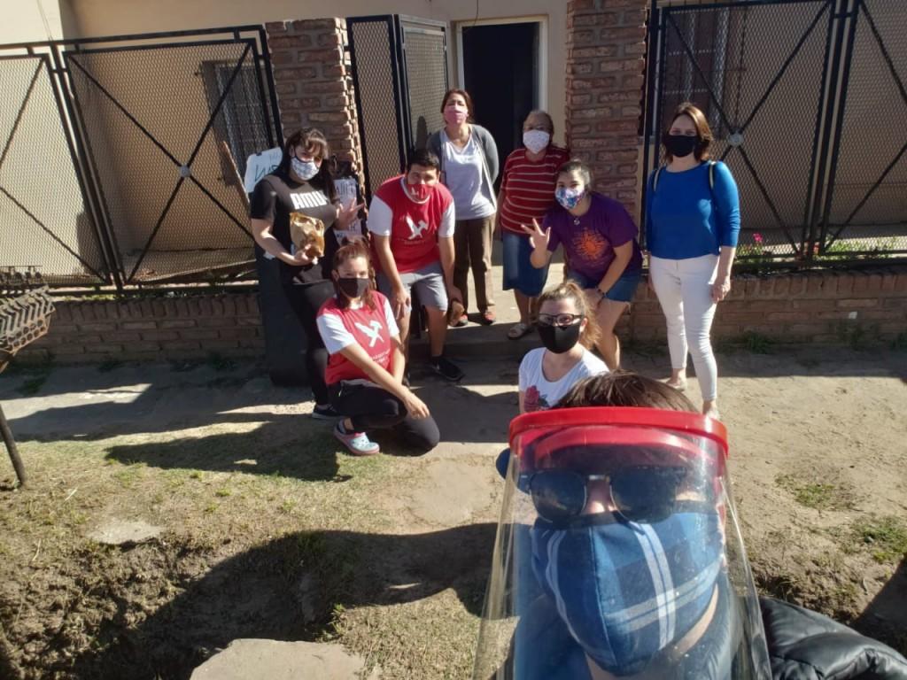 La Juventud Radical visitó Las Acacias