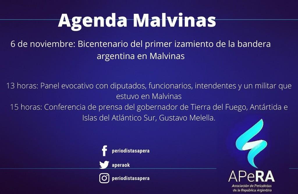 6 DE NOVIEMBRE : BICENTENARIO DEL PRIMER IZAMIENTO DE LA BANDERA ARGENTINA EN MALVINAS