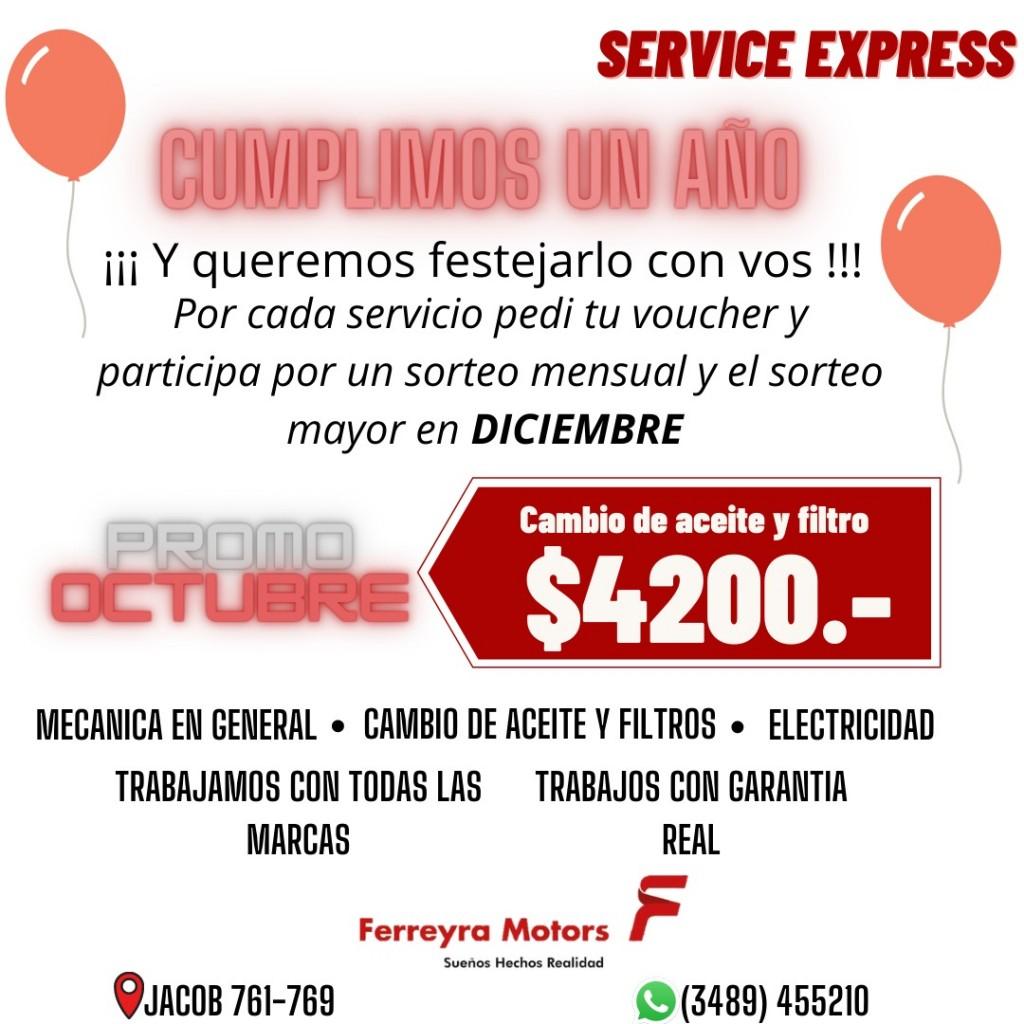 FERREYRA MOTORS SERVICE EXPRESS CUMPLE SU PRIMER AÑO
