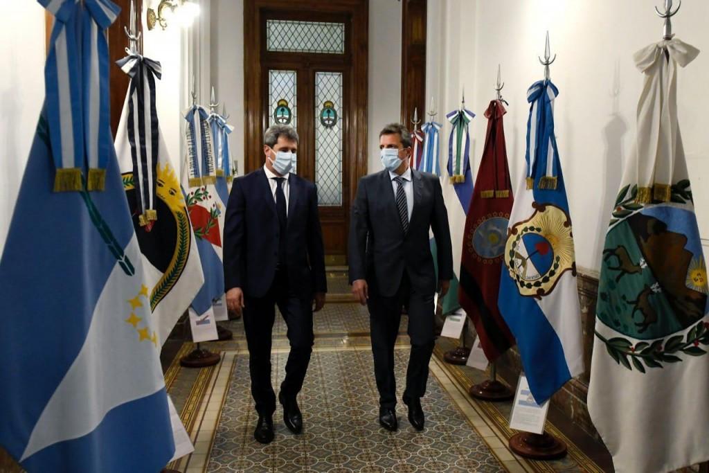 Massa recibió al gobernador de San Juan, Sergio Uñac