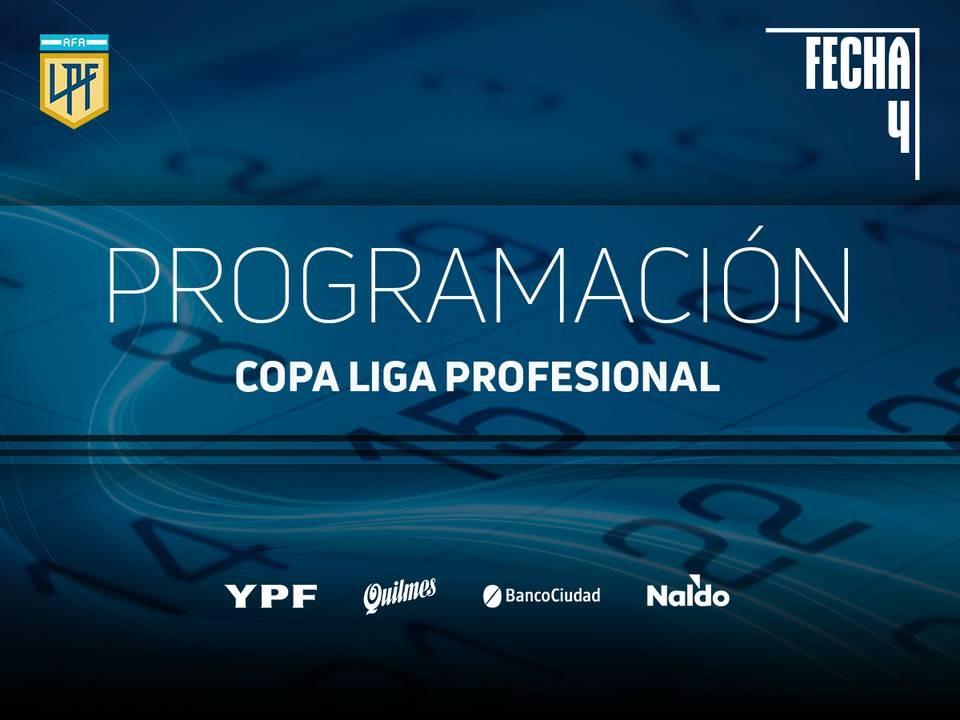 COPA LIGA PROFESIONAL : Agenda para la fecha 4