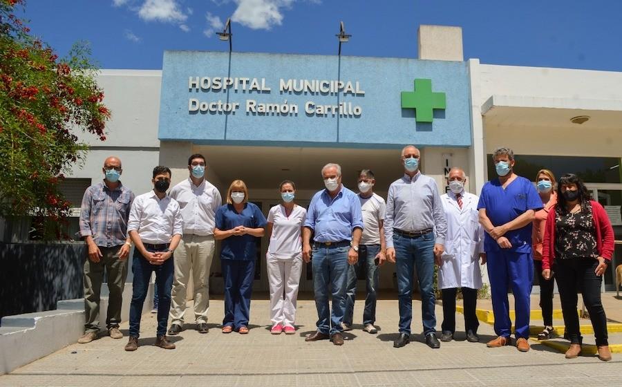 GOLLAN Y GIORGI VISITARON LOS HOSPITALES DE LOBOS Y ROQUE PÉREZ