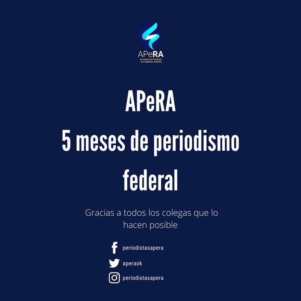 APeRA como plataforma informativa federal nacional cumple 5 meses de su creaciòn