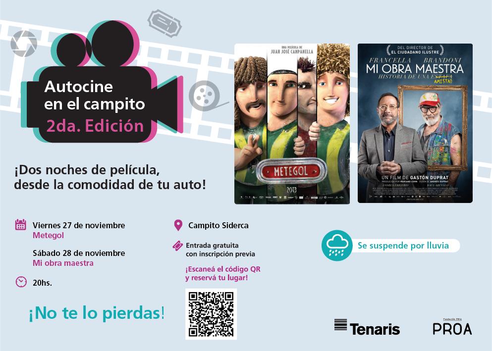 El Autocine de Tenaris y Fundación PROA regresa con dos grandes películas argentinas