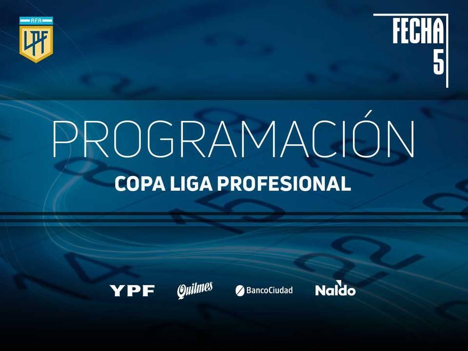 Reprogramación para tres partidos de la fecha 5 de la Copa Diego Armando Maradona