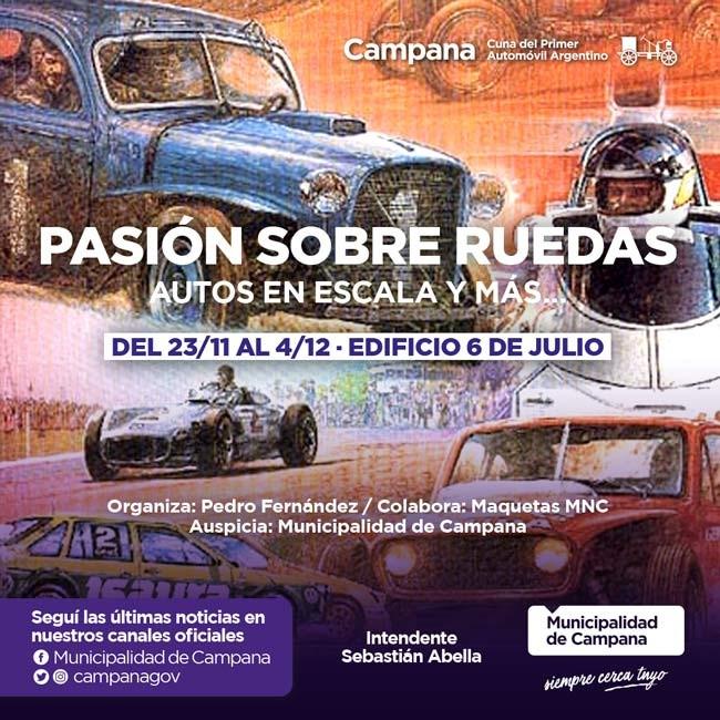 """""""Pasión sobre ruedas"""", la nueva exposición en el Edificio 6 de Julio"""
