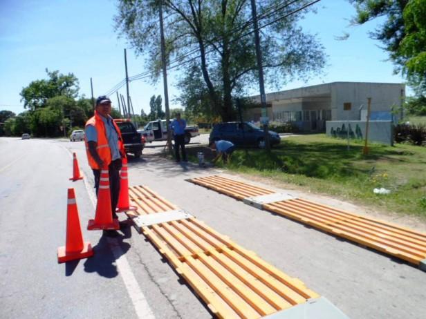 El Municipio realizó operativos de pesaje y control de cargas de camiones en la Ruta N° 4
