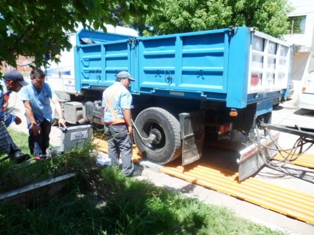 El Municipio intensifica los controles de cargas en camiones de gran porte