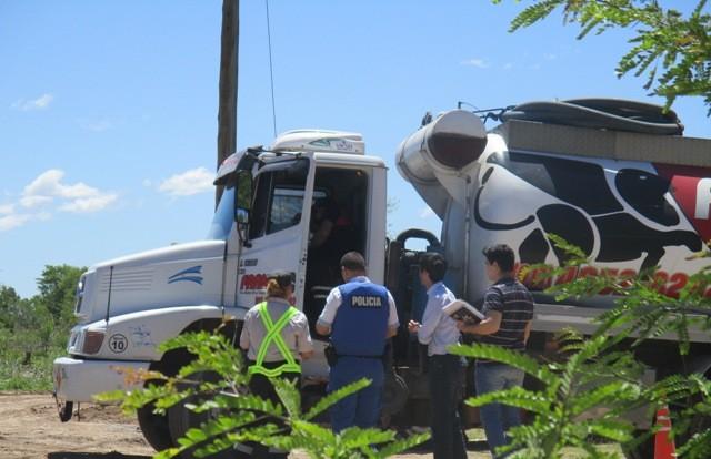 El Municipio realizó operativos a transportes de residuos especiales