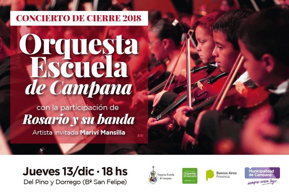 La Orquesta Escuela de Campana cerrará el año con un concierto al aire libre