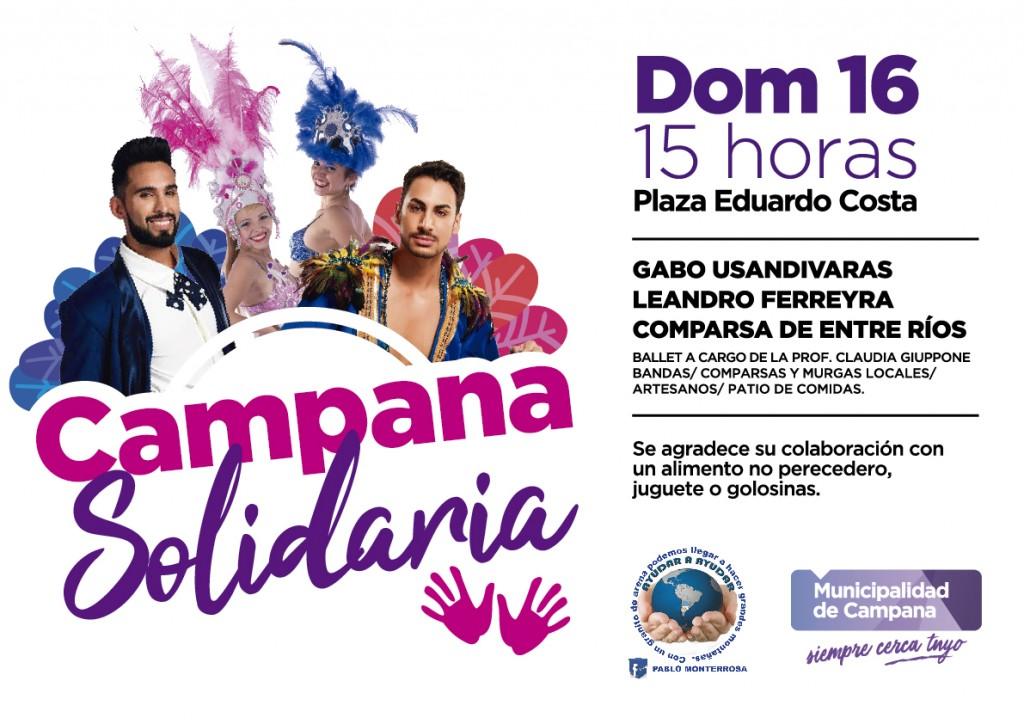 """Este domingo se realizará la 8º edición de """"Campana solidaria"""""""
