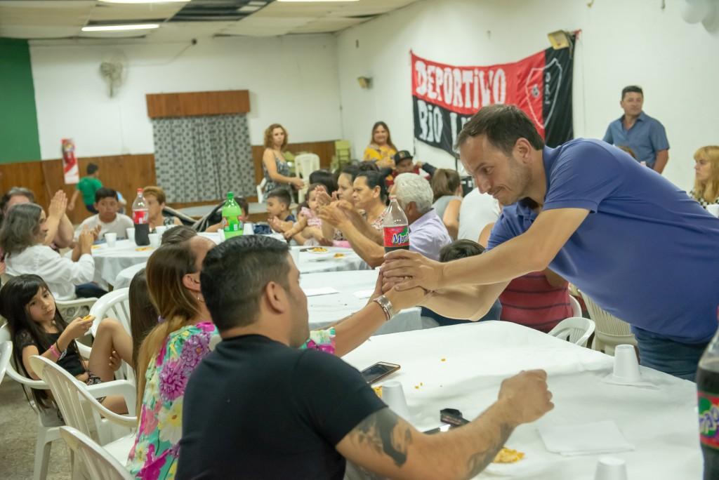"""Militantes de """"Sentir"""" despidieron el año junto al Intendente"""