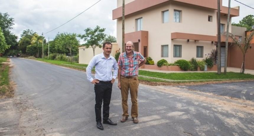 Se completó el asfalto en San Jacinto y las obras seguirán por Villanueva