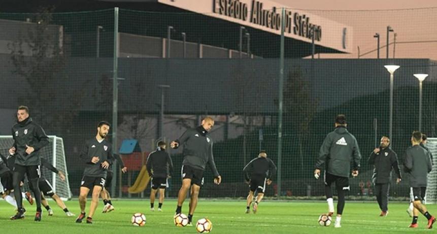River Plate comenzó los entrenamientos en Madrid