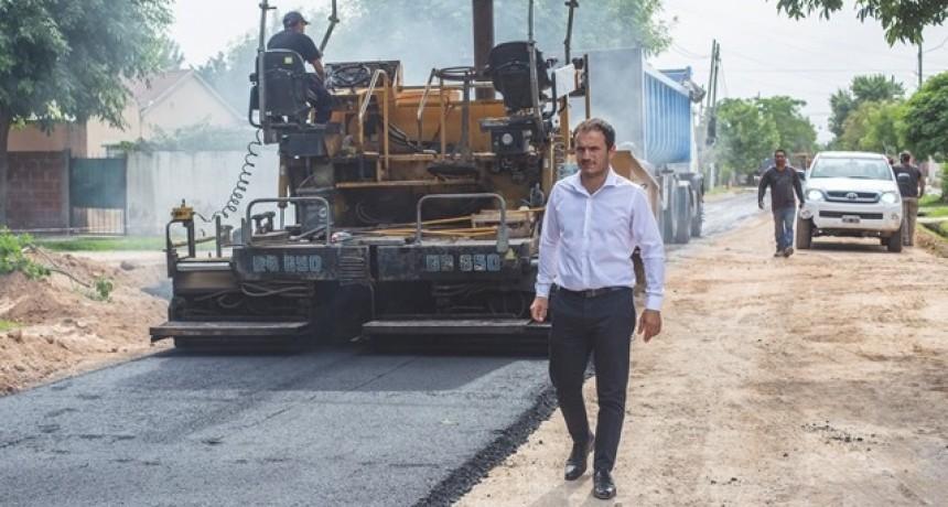 Las obras de asfalto llegaron ahora a Villanueva