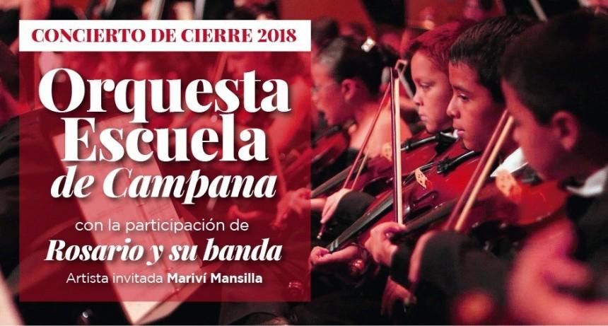 ORQUESTA ESCUELA - Hoy la Orquesta Escuela de Campana cerrará el año con un concierto al aire libre