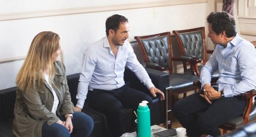 Abella y Sánchez Zinny se reunieron para hablar de las obras educativas de 2019