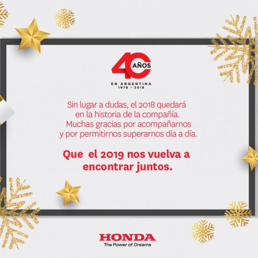 Por un 2019 con buena Honda!!!! en sus 40 años