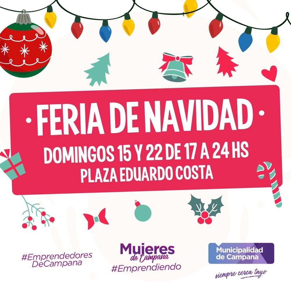 Llega una Feria de Navidad a la plaza Eduardo Costa