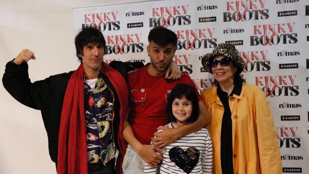 Graciela Borges visitó a Martín  Bossi en los ensayos de Kinky  Boots