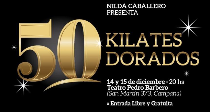 """El show de danzas """"50 kilates dorados"""" llega al teatro Pedro Barbero"""