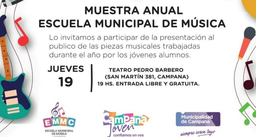 Se viene la muestra anual de la Escuela Municipal de Música
