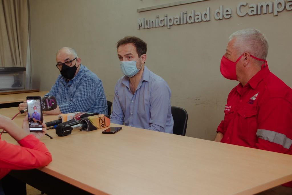 El Intendente destacó el intenso trabajo del Municipio frente a los daños causados por el temporal