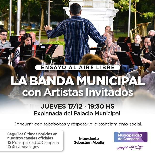 Este jueves vuelven los ensayos abiertos de la Banda Municipal