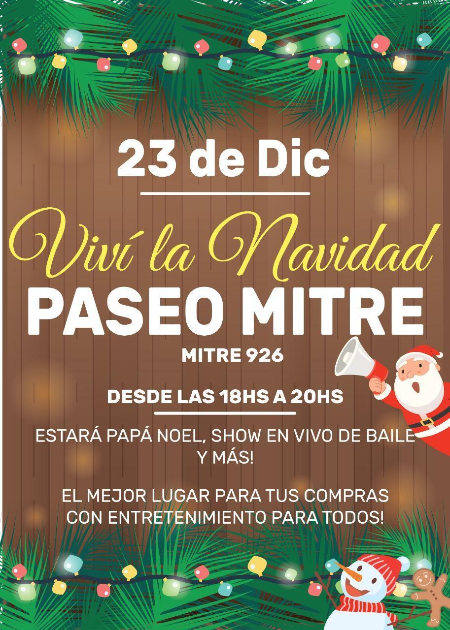 Papá Noel visitará este miércoles la avenida Mitre