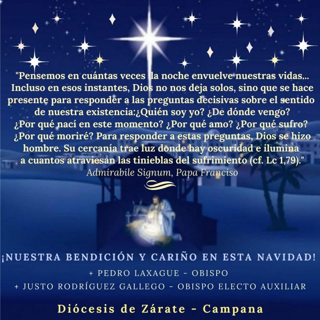 MENSAJE A NUESTRA COMUNIDAD DEL OBISPO DE LA DIOCESIS ZARATE CAMPANA